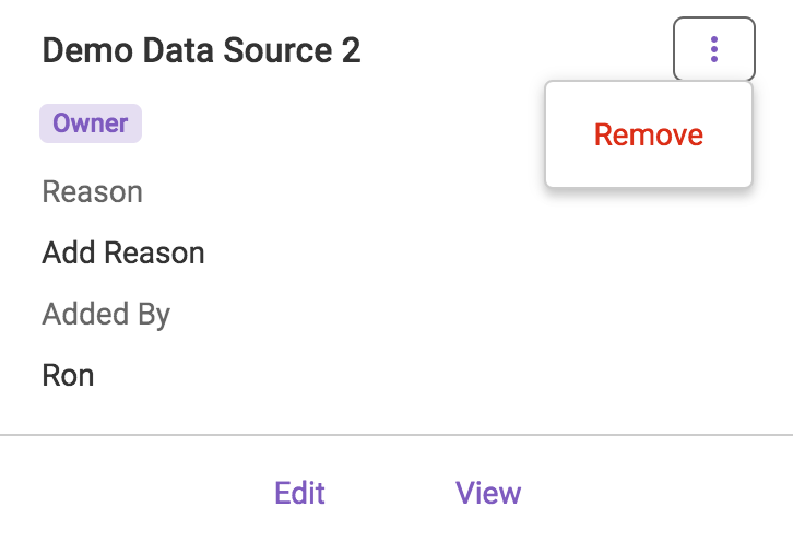Remove Data Source